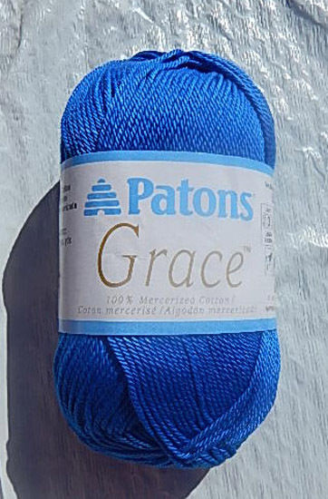 Patons Grace New Patons Grace Mercerized Cotton Blue Bayou Yarn Nip & No Of Top 46 Pictures Patons Grace