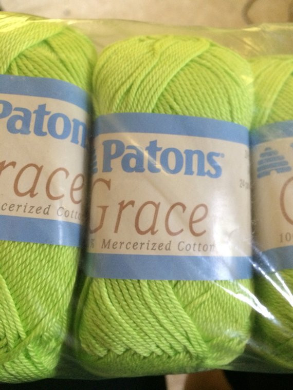 Patons Grace Yarn Best Of Patons Grace Lime Green Cotton Yarn 10 Skeins Of Lovely 45 Pics Patons Grace Yarn