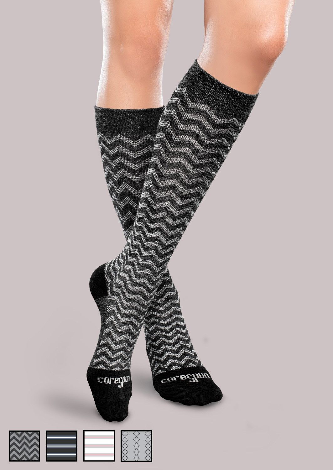 Patterned socks Awesome Moderate Support socks Patterned Core Spun Of Superb 48 Images Patterned socks