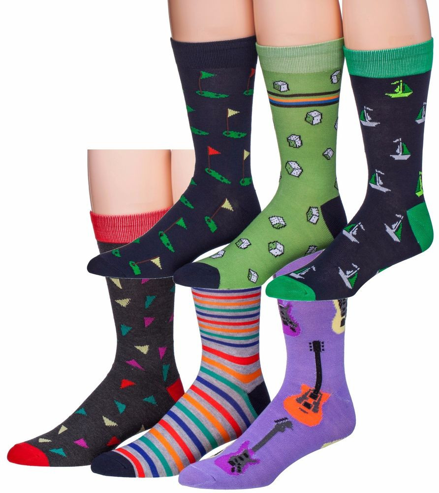 Patterned socks Elegant James Fiallo Men S 6 Pairs Colorful Patterned Dress socks Of Superb 48 Images Patterned socks