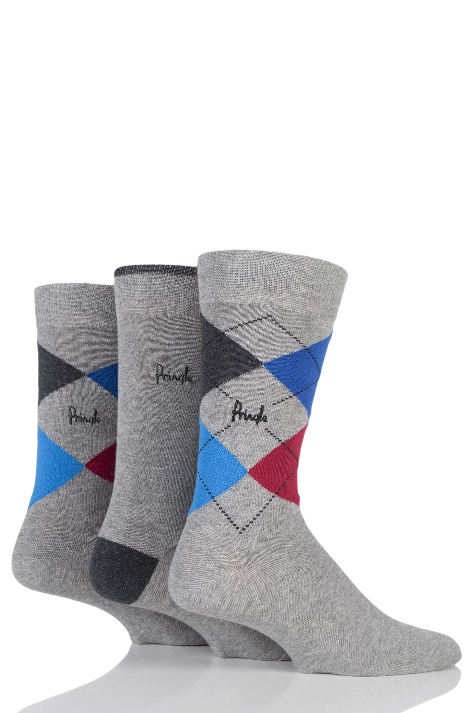 Patterned socks Elegant Mens 3 Pair Pringle New Waverley Argyle Patterned & Plain Of Superb 48 Images Patterned socks