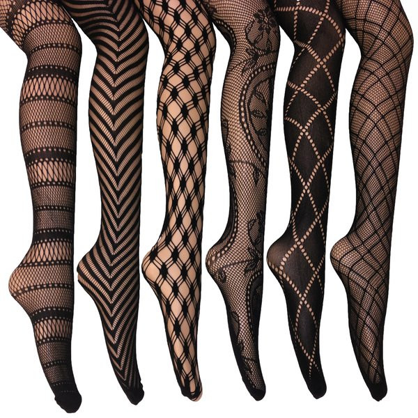 Patterned socks Fresh Elegant assorted Fishnet Lace Tights Pack Of 6 Free Of Superb 48 Images Patterned socks