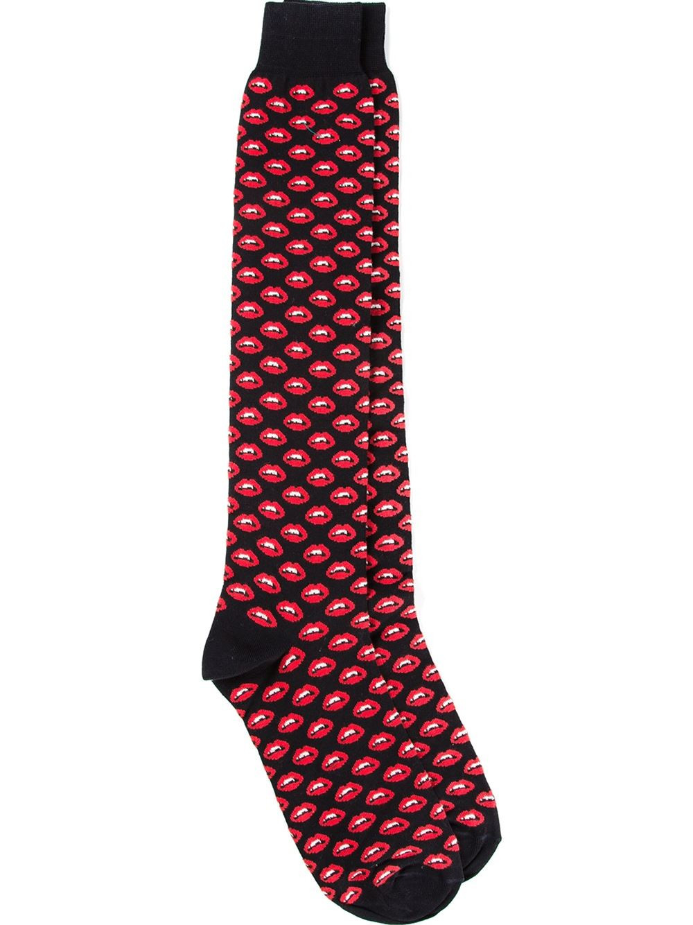 Patterned socks Fresh Lyst Fefe Mouth Patterned socks In Black for Men Of Superb 48 Images Patterned socks