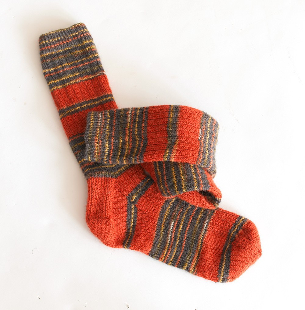 Patterned socks Inspirational Striped Ribbed socks Pattern Knit Of Superb 48 Images Patterned socks