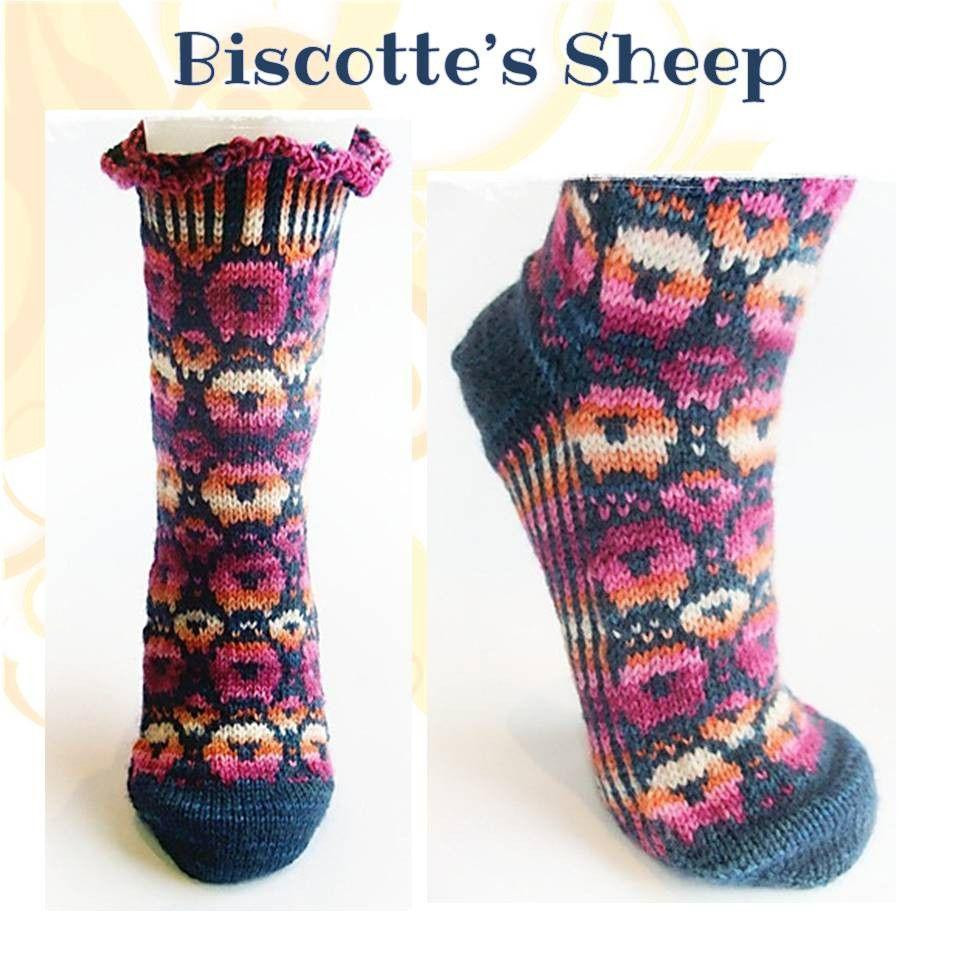 Patterned socks Lovely sock Pattern Biscotte S Sheeps – Biscotte Yarns Of Superb 48 Images Patterned socks