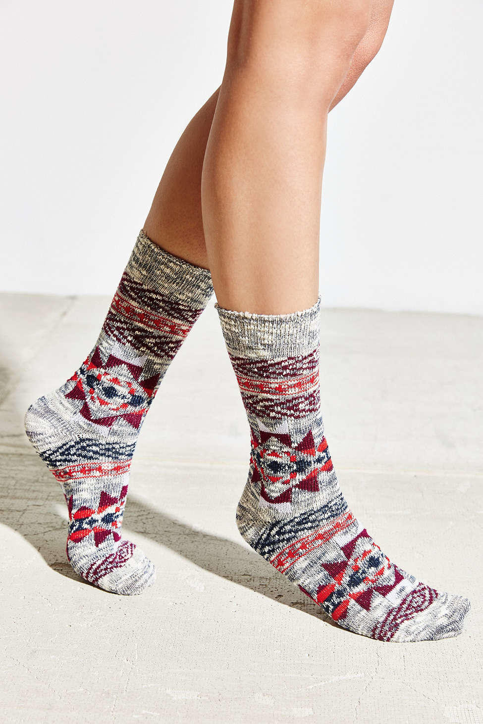 Patterned socks Luxury Patterned Slouchy Crew sock Urban From Urban Outfitters Of Superb 48 Images Patterned socks