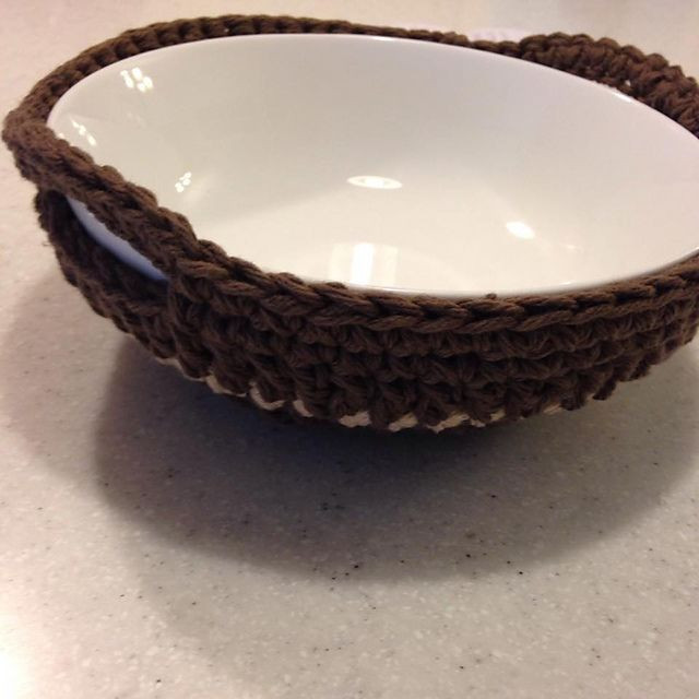 Peaches & Cream Yarn Awesome Poshlynne S Microwave soup Bowl Potholder Of Charming 40 Images Peaches & Cream Yarn