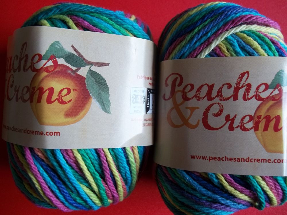 Peaches & Cream Yarn Elegant Peaches & Creme Cotton Yarn Psychedelic Lot Of 2 Of Charming 40 Images Peaches & Cream Yarn
