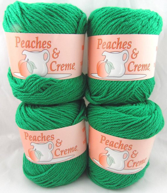 Peaches and Cream Cotton Yarn Awesome Christmas Green Peaches & Creme Yarn 4 Balls by Carolscabin Of Brilliant 43 Pictures Peaches and Cream Cotton Yarn