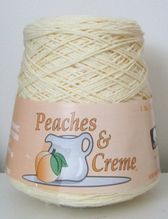 Peaches and Cream Cotton Yarn Fresh Items Similar to Peaches and Creme 1 Pound Cone Of Brilliant 43 Pictures Peaches and Cream Cotton Yarn