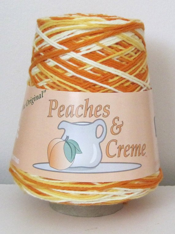 Peaches and Cream Cotton Yarn New Peaches and Creme 14 Ounce Cone Cotton by Sandisstashshop Of Brilliant 43 Pictures Peaches and Cream Cotton Yarn