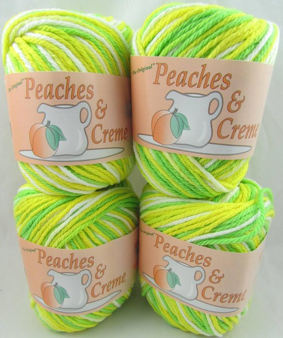 Peaches and Cream Yarn Awesome Lemon Lime Peaches & Creme Yarn 4 Balls Of Beautiful 43 Pics Peaches and Cream Yarn