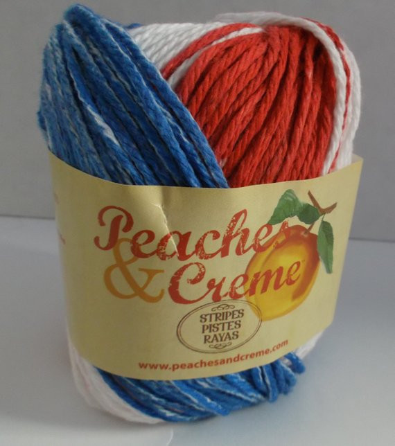 peaches creme cotton variegated yarn