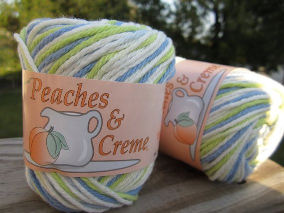 Cotton Yarn Peaches & Creme SEA MIST OMBRE by YarnDoodle