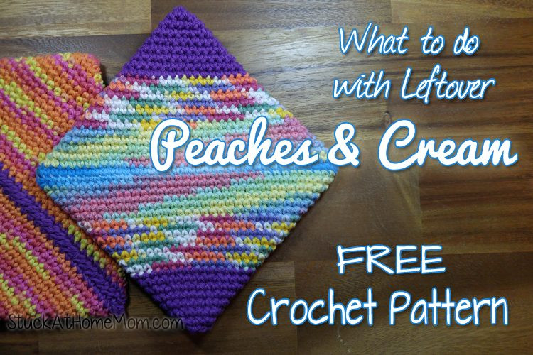 what to do with leftover peaches cream double layer potholder crochet pattern