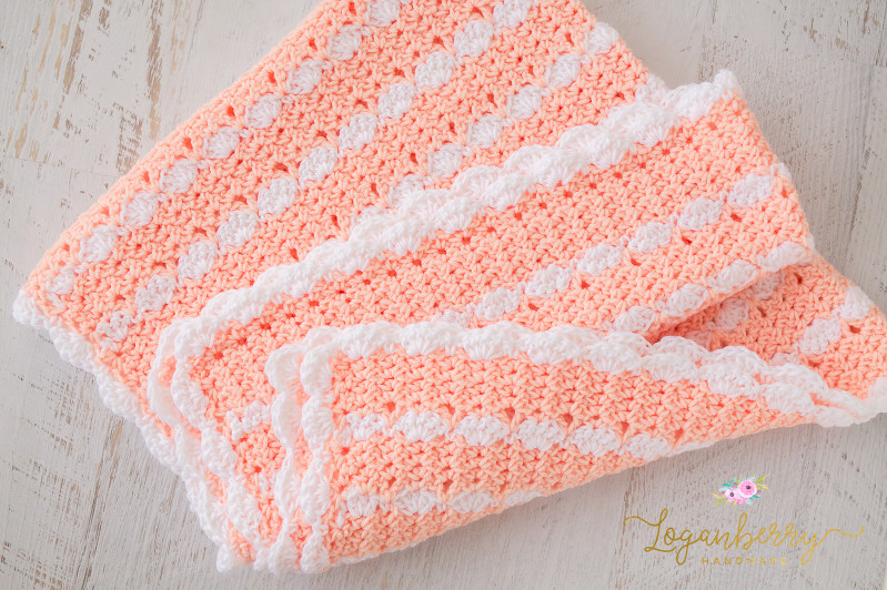 Peaches and Creme Yarn Crochet Patterns Lovely Peaches & Cream Baby Blanket – Free Crochet Pattern Of Amazing 42 Ideas Peaches and Creme Yarn Crochet Patterns