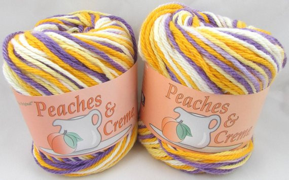 DARK PANSY OMBRE Peaches & Creme Yarn 2 Balls