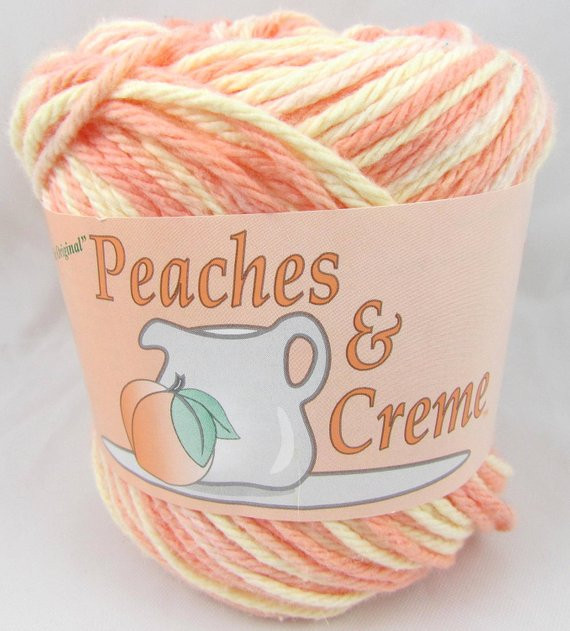 orange sherbet peaches creme yarn 1 ball