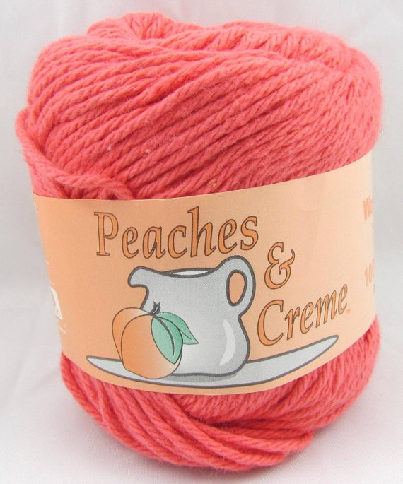 Peaches N Cream Yarn Fresh Persimmon Peaches & Creme Yarn 1 Ball by Carolscabin On Etsy Of Awesome 41 Pictures Peaches N Cream Yarn