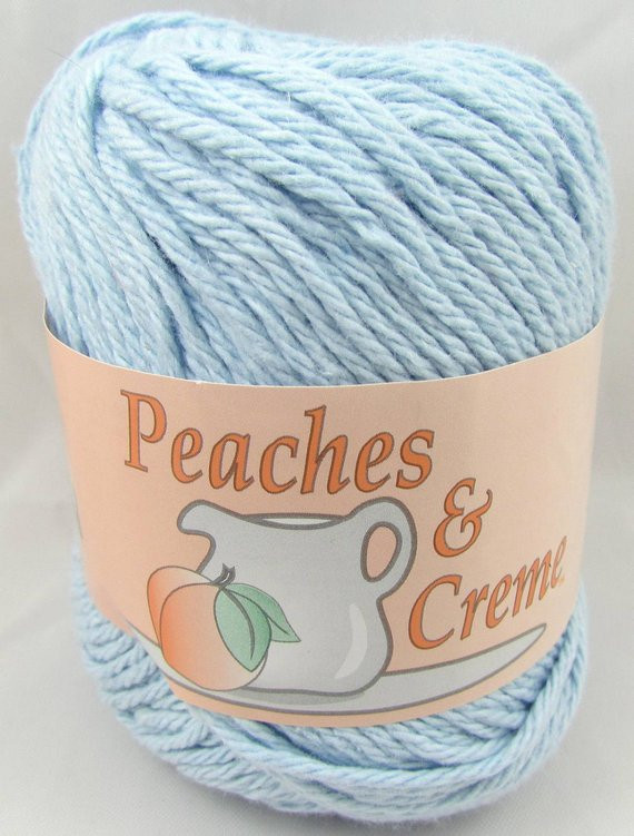 BABY BLUE Peaches & Creme Yarn 1 Ball by carolscabin on Etsy