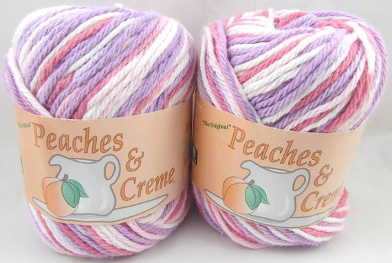 Peaches N Cream Yarn Luxury Pink Lilacs Peaches & Creme Yarn 2 Balls by Carolscabin On Of Awesome 41 Pictures Peaches N Cream Yarn