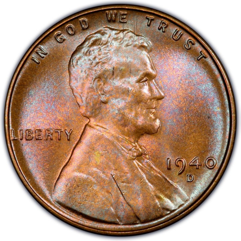 1940 Lincoln Wheat Pennies Values and Prices Past Sales