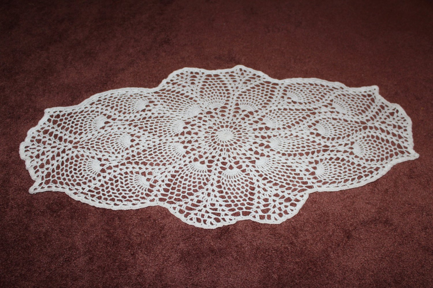 Pineapple Doily Beautiful Oval Pineapple Doily Of Top 46 Photos Pineapple Doily