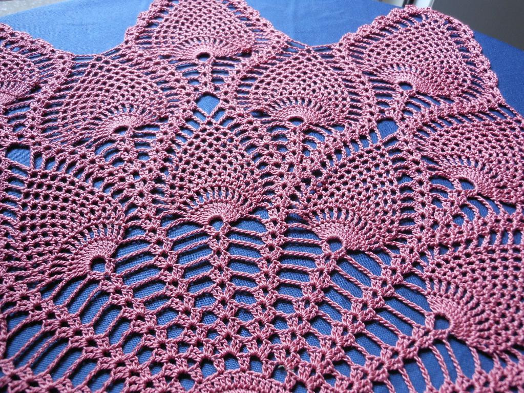 Pineapple Doily Beautiful You Have to See Royal Pineapple Doily On Craftsy Of Top 46 Photos Pineapple Doily