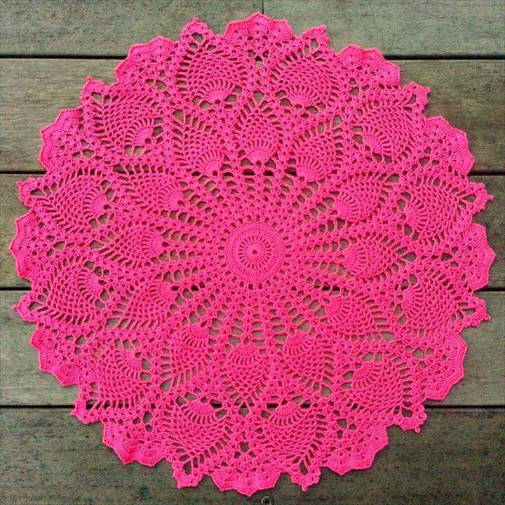 Pineapple Doily Crochet Patterns Inspirational 42 Quick & Easy Crochet Doily Pattern Of Perfect 47 Models Pineapple Doily Crochet Patterns