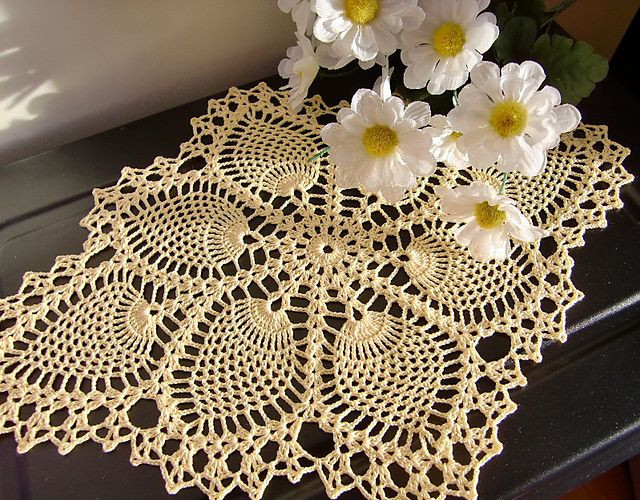 Pineapple Doily Crochet Patterns Unique 1000 Images About Crochet Table Runner On Pinterest Of Perfect 47 Models Pineapple Doily Crochet Patterns