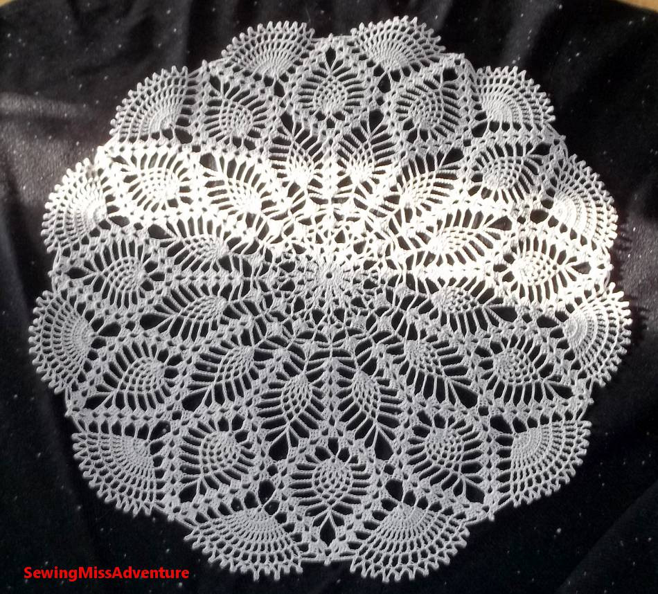 Pineapple Doily Elegant Sewing Miss Adventure Final Pics Of Mom S Monster Of Top 46 Photos Pineapple Doily