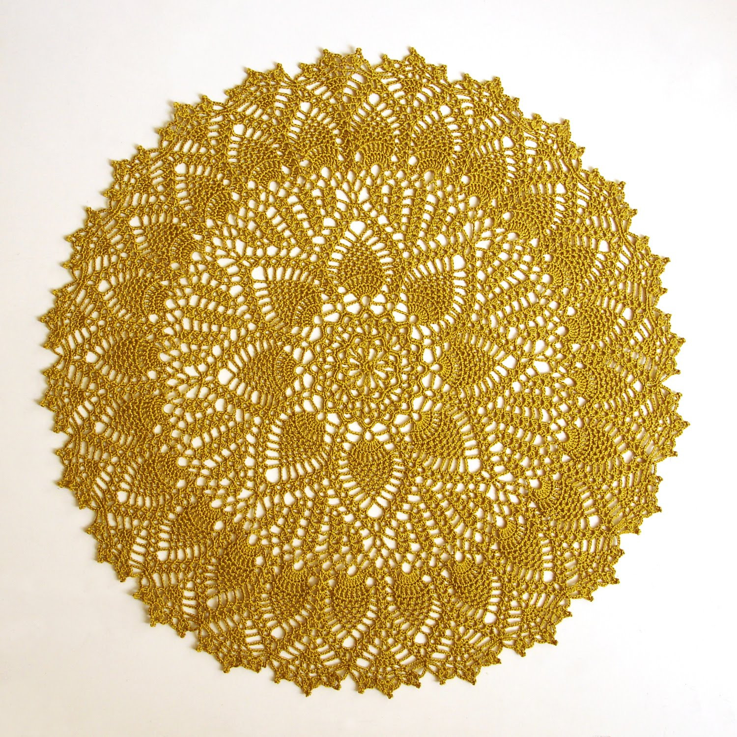 Pineapple Doily Lovely One Loop Short A Very Doily Of Top 46 Photos Pineapple Doily