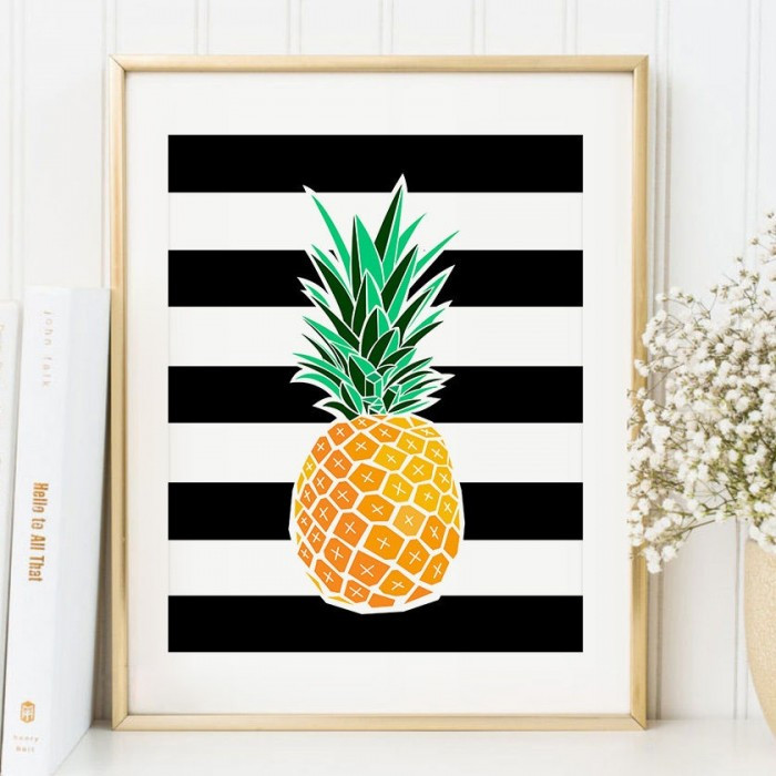 Pineapple Home Accessories Best Of Pineapple Art Print Tropical Wall Decor Of Contemporary 40 Models Pineapple Home Accessories