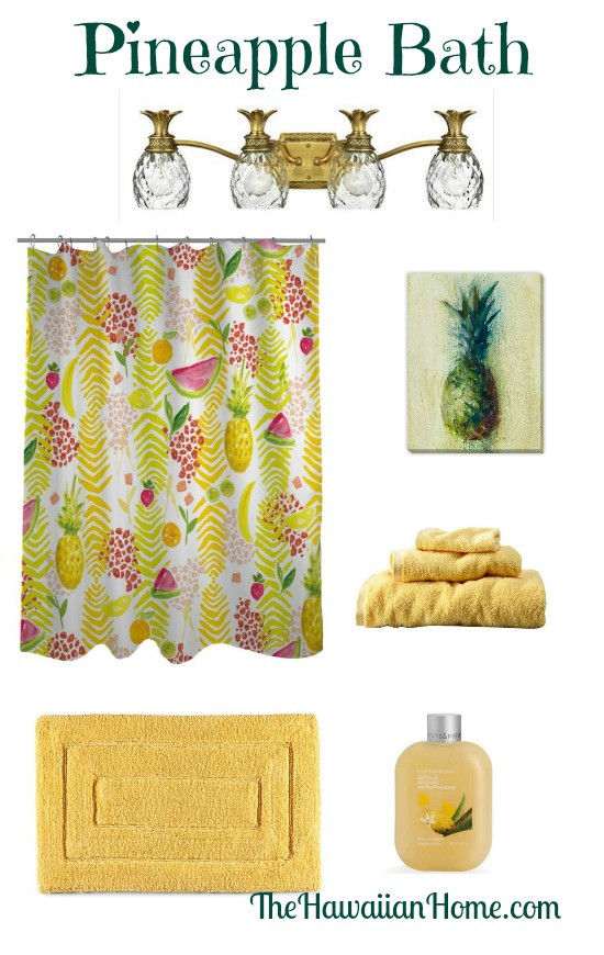 Pineapple Home Accessories Inspirational Fruity Pineapple Bathroom Design the Hawaiian Home Of Contemporary 40 Models Pineapple Home Accessories