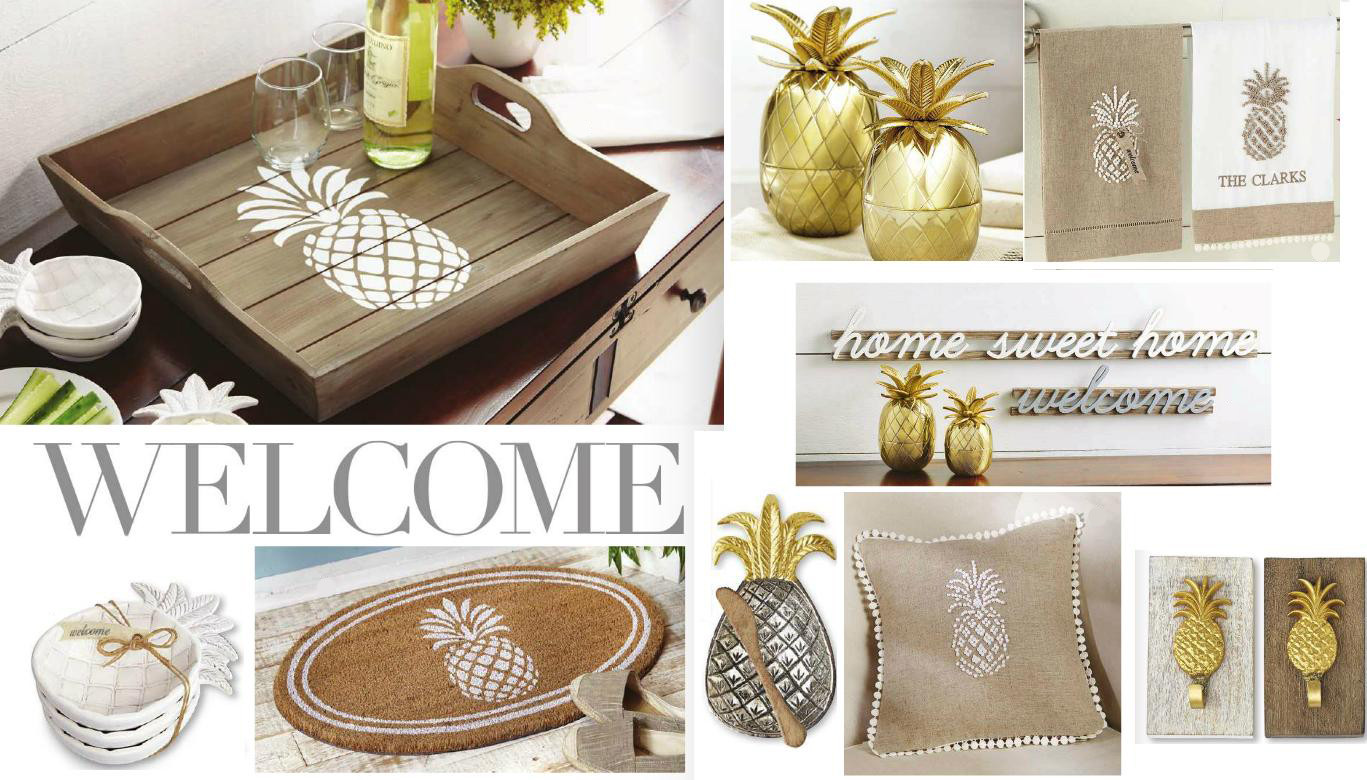 Pineapple Home Accessories Luxury Mud Pie Ml7 Home Decor 6 In Small Gold Pineapple Table Of Contemporary 40 Models Pineapple Home Accessories