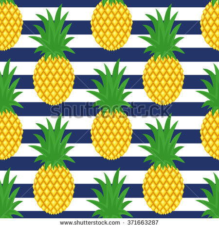 Pineapple Pattern Elegant Pineapple Striped Background Cute Vector Stock Vector Of Amazing 47 Images Pineapple Pattern