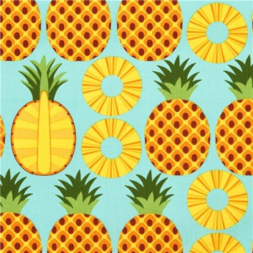 Pineapple Pattern Inspirational Aqua Pineapple Fruit Fabric Timeless Treasures From the Of Amazing 47 Images Pineapple Pattern