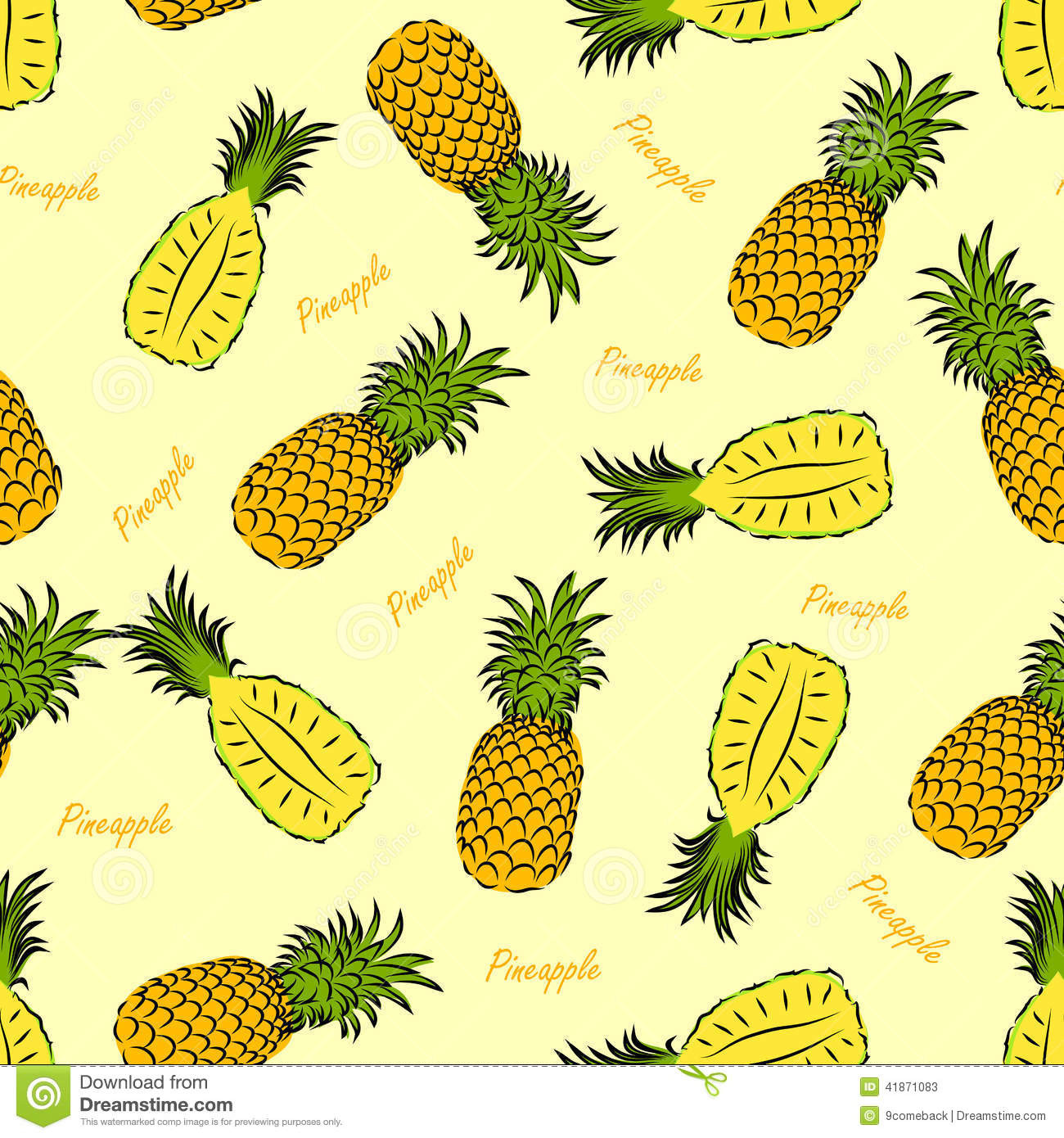 Pineapple Pattern Lovely Pineapple Seamless Stock Vector Image Of Amazing 47 Images Pineapple Pattern