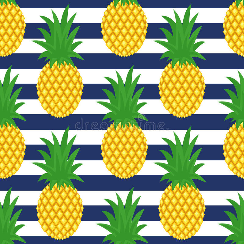 Pineapple Pattern Lovely Pineapple Striped Background Cute Vector Pineapple Of Amazing 47 Images Pineapple Pattern