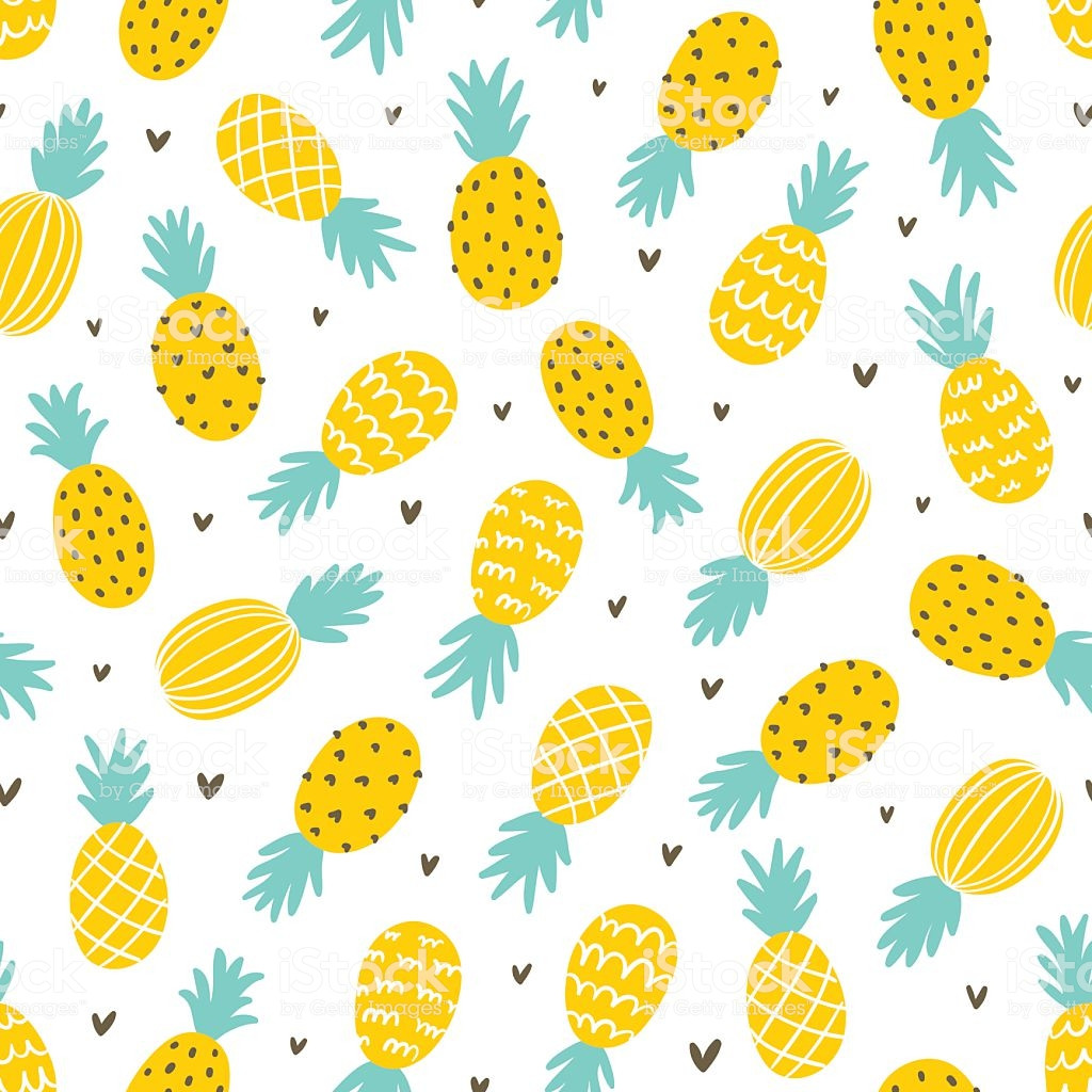 Pineapple Pattern Unique Pineapple and Hearts Seamless Pattern Stock Vector Art Of Amazing 47 Images Pineapple Pattern