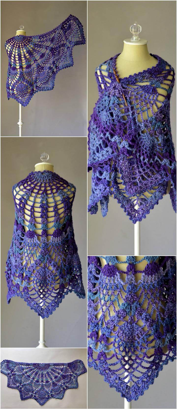 Pineapple Peacock Shawl Awesome 10 Free Crochet Shawl Patterns for Women S Of Wonderful 20 Photos Pineapple Peacock Shawl