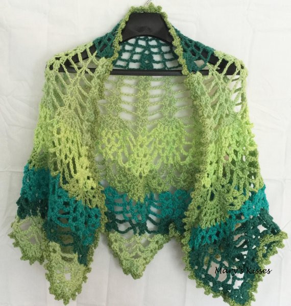 Crochet Handcrafted Teal Turquoise and Green Pineapple