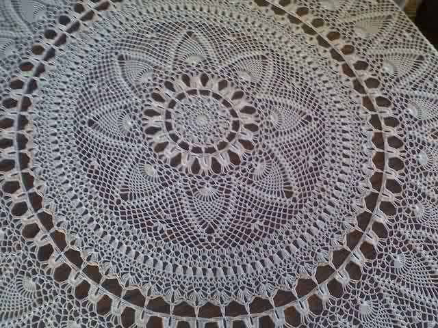 Pineapple Tablecloth Crochet Pattern Free Inspirational 17 Best Images About Салфетки On Pinterest Of Perfect 41 Images Pineapple Tablecloth Crochet Pattern Free