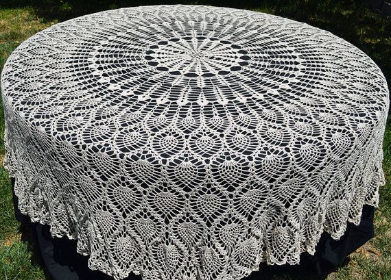 Pineapple Tablecloth Crochet Pattern Free Inspirational Round Crochet Tablecloth Vintage Style Crochet Pineapple Of Perfect 41 Images Pineapple Tablecloth Crochet Pattern Free