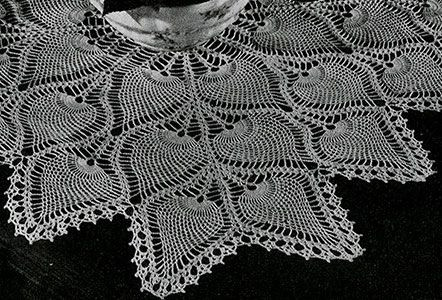 Square Tablecloth crochet pattern originally published in