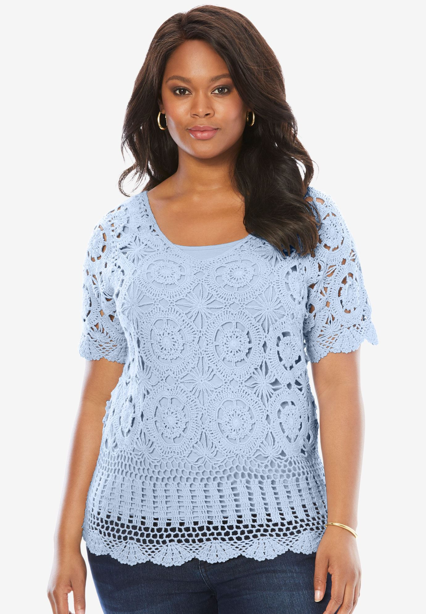 Plus Size Crochet Elegant French Crochet Sweater by Denim 24 7 Of Gorgeous 50 Pictures Plus Size Crochet