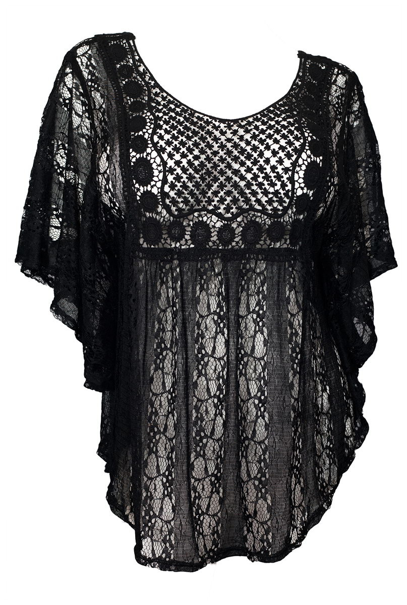 Plus Size Crochet Elegant Plus Size Crochet Poncho top Black Of Gorgeous 50 Pictures Plus Size Crochet