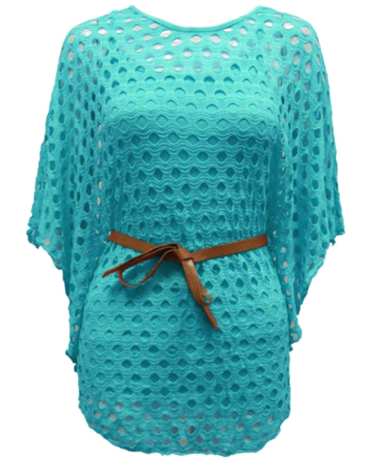 Plus Size Crochet Fresh New La S Plus Size Tie Belted Crochet Batwing tops Mesh Of Gorgeous 50 Pictures Plus Size Crochet