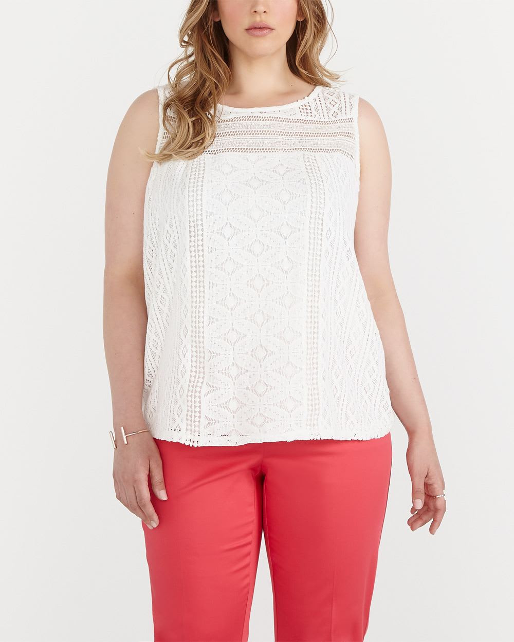Plus Size Sleeveless Crochet Top Plus Sizes