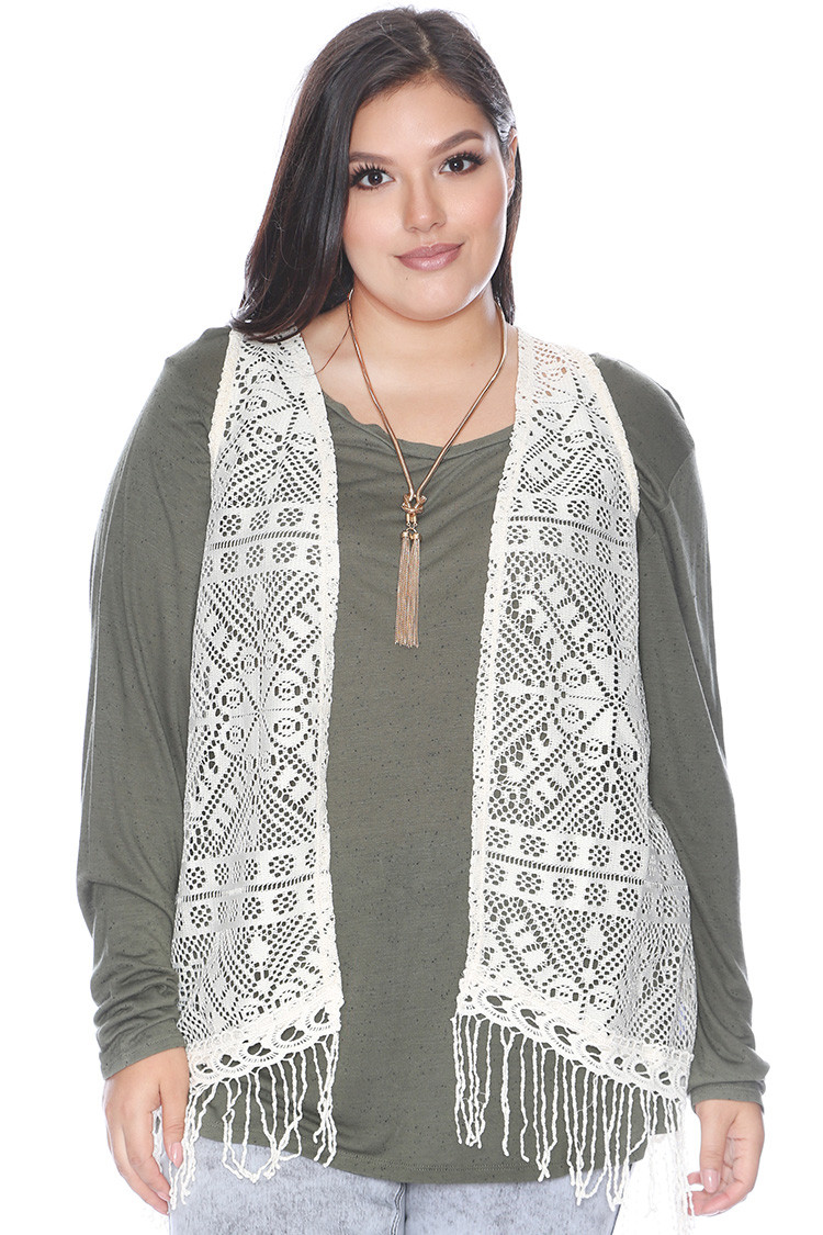 Plus Size Crochet Vest Awesome Plus Size Crochet Fringe Vest Clearance tops Of Fresh 49 Pics Plus Size Crochet Vest